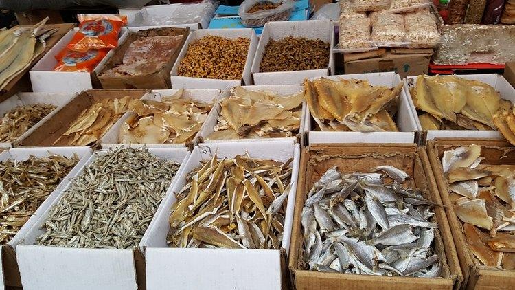 圖14︰金峰鎮各種海產的乾製品